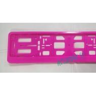 Рамка для номерного знака Розовая