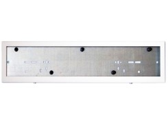 Металлическая кассетная рамка (белая)