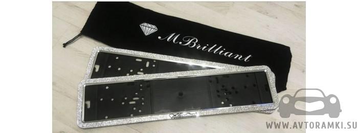 Комплект рамок Mbrilliant со стразами из горного хрусталя