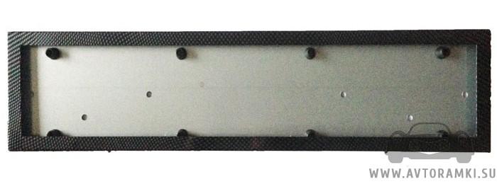 Металлическая кассетная рамка (карбон) для номера, купить