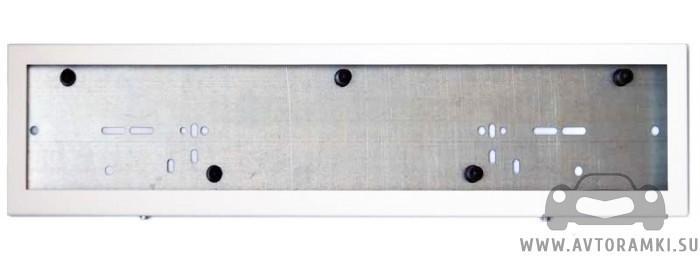 Металлическая кассетная рамка (белая) для номера, купить